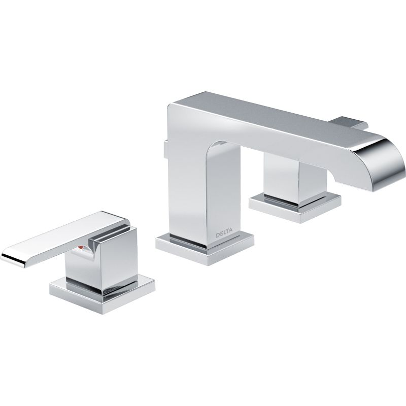 Delta 3567 Ssmpu Dst Brilliance Stainless Ara 1 2 Gpm Widespread Bathroom Faucet Includes Metal Pop Up Drain Embly
