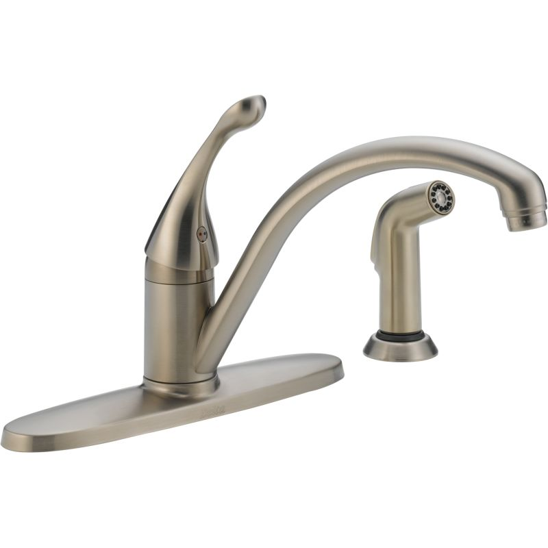 Delta 440 Ss Dst Brilliance Stainless Collins Kitchen Faucet With