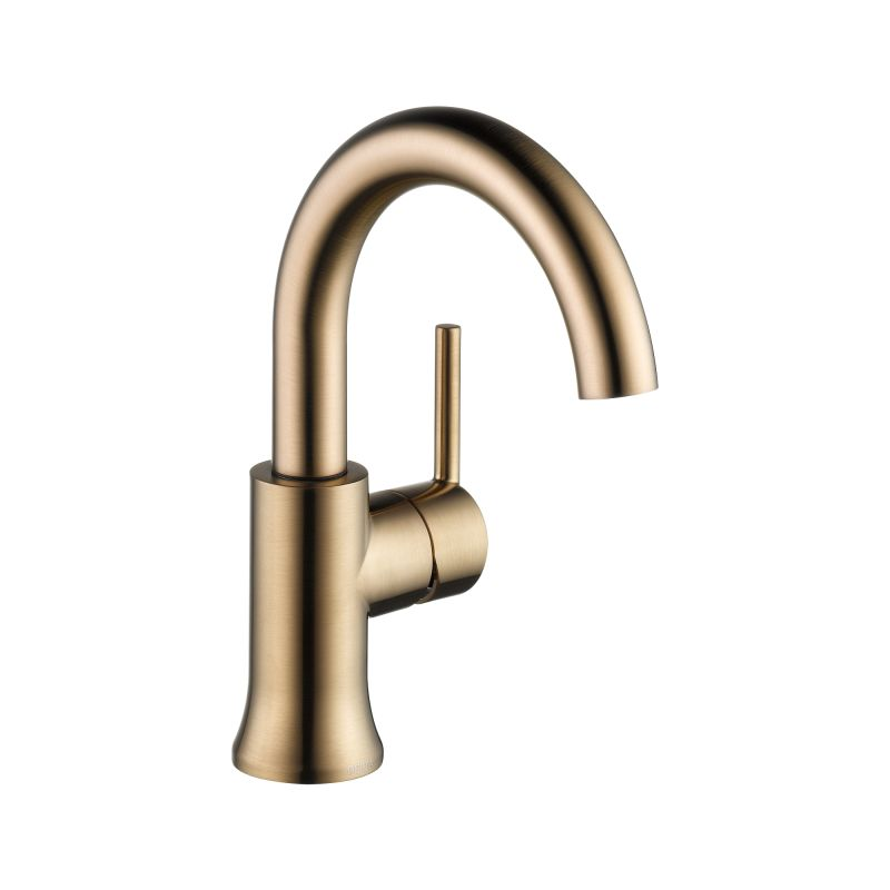 Delta 559HA CZ DST Champagne Bronze Trinsic 1.2 GPM Single Hole Bathroom  Faucet   Includes Metal Pop Up Drain Assembly   FaucetDirect.com