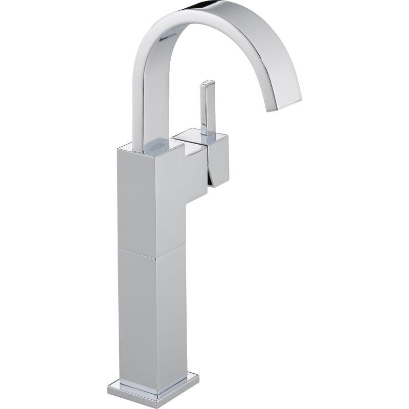 Delta 753lf Chrome Vero Single Hole Bathroom Faucet With Riser
