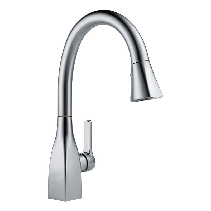 Delta 9183 Ar Dst Arctic Stainless Mateo Pull Down Kitchen Faucet With Magnetic Docking Spray Head And Shieldspray Includes Lifetime Warranty