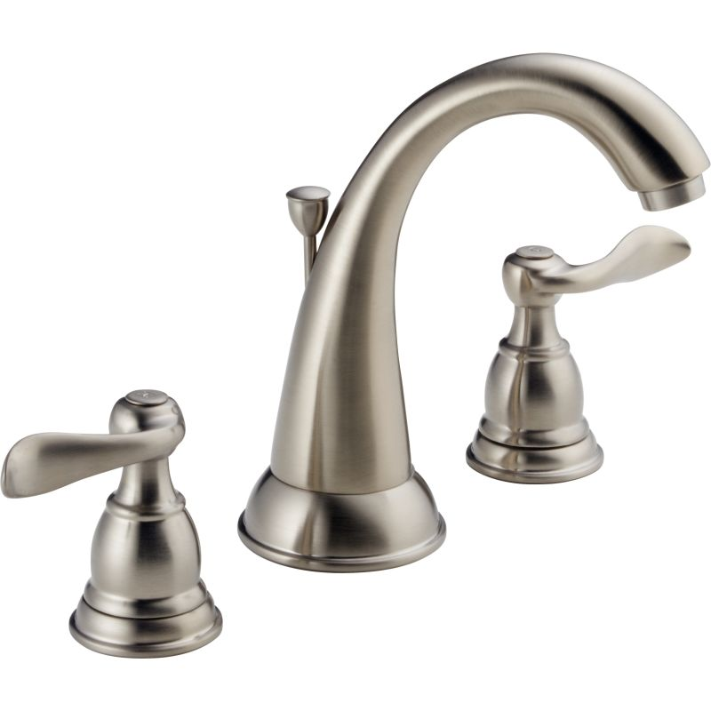 Delta B3596LF OB Oil Rubbed Bronze Windemere Widespread Bathroom Faucet  With Pop Up Drain Assembly   Includes Lifetime Warranty   Faucet.com