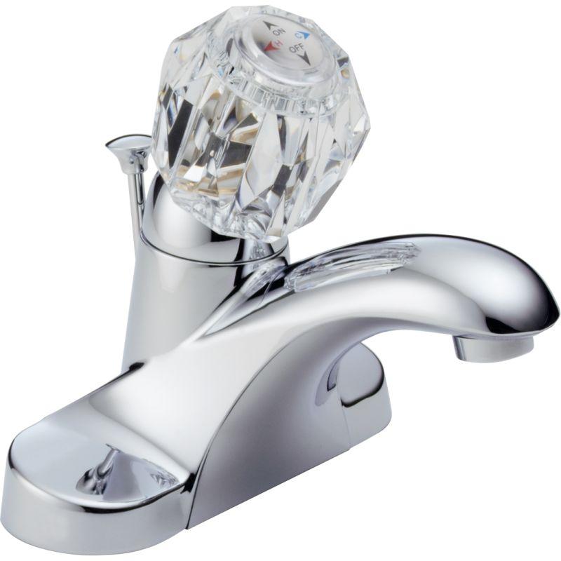 Delta B512lf Chrome Foundations Core B Centerset Bathroom Faucet
