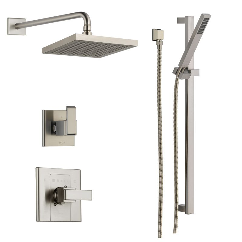 Incroyable Delta DSS Arzo 1401SS Brilliance Stainless Monitor 14 Series Single  Function Pressure Balanced Shower System With Shower Head, And Hand Shower    Includes ...