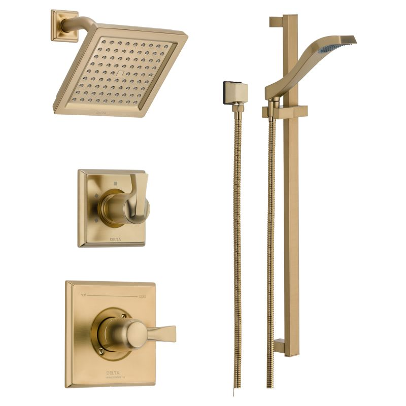 Great Delta DSS Dryden 1401SS Brilliance Stainless Monitor 14 Series Single  Function Pressure Balanced Shower System With Shower Head, And Hand Shower    Includes ...