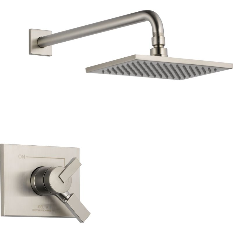 delta shower faucet pd valve shop brushed bathtub with nickel spotshield handle and alux