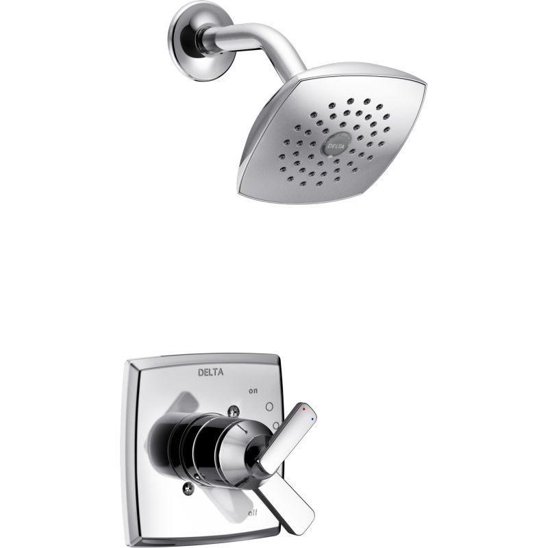 Delta T17264 Chrome Ashlyn Monitor 17 Series Dual Function Pressure Balanced Shower Trim Package With Touch Clean Head And Integrated Volume Control