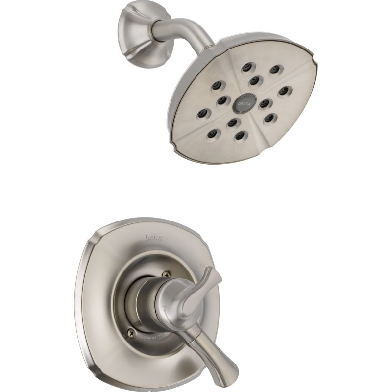 Series Dual Function Pressure Balanced Shower Trim Package With H2okinetic Head And Integrated Volume Control Less Rough In Valve Faucet