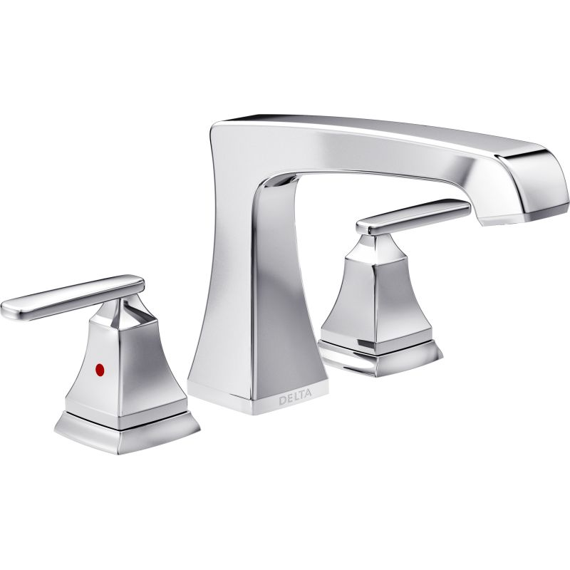 Delta T2764 Chrome Ashlyn Deck Mounted Roman Tub Faucet Trim with ...