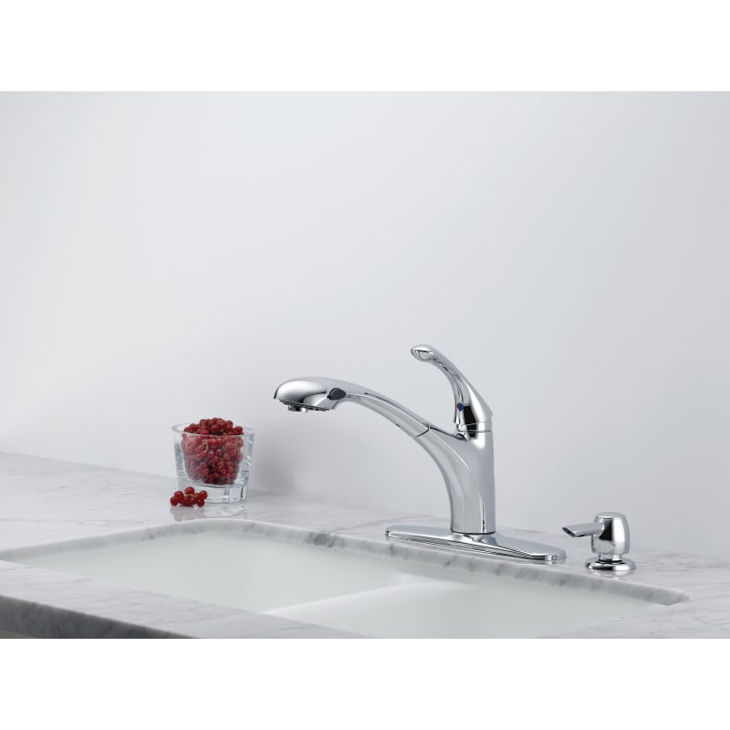 Chrome Delta RP51491 Debonair Hub Assembly for Pull-Out Kitchen Faucet