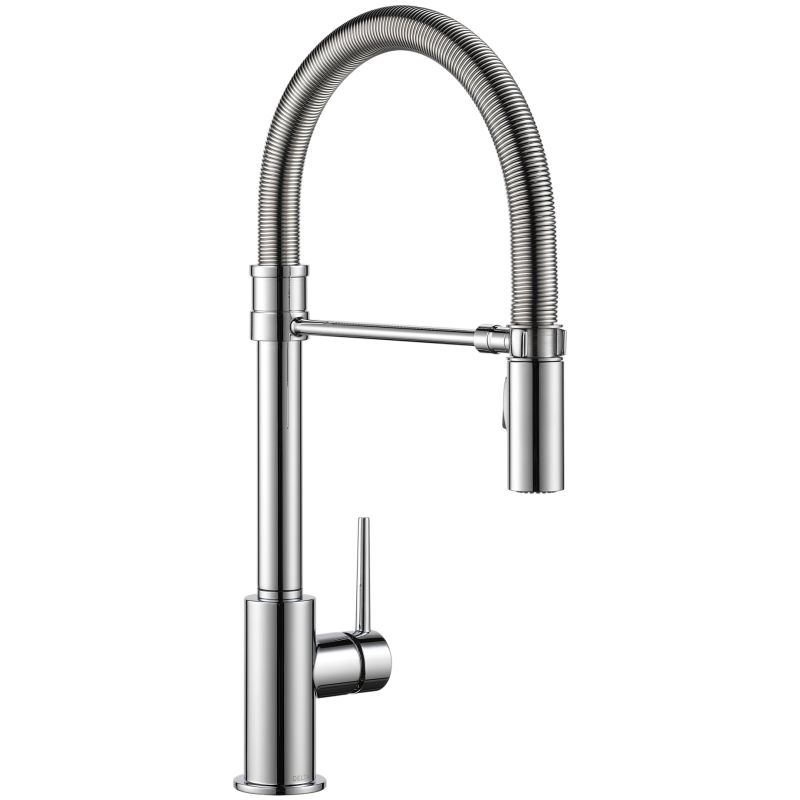 Kohler Kitchen Faucets Simplice delta 9659-dst chrome trinsic pro pre-rinse pull-down kitchen