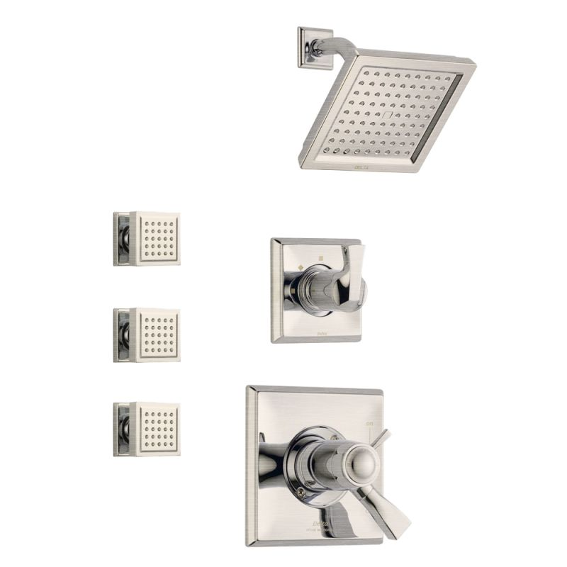 Delta Dryden TempAssure Shower Package SS Brilliance Stainless with ...