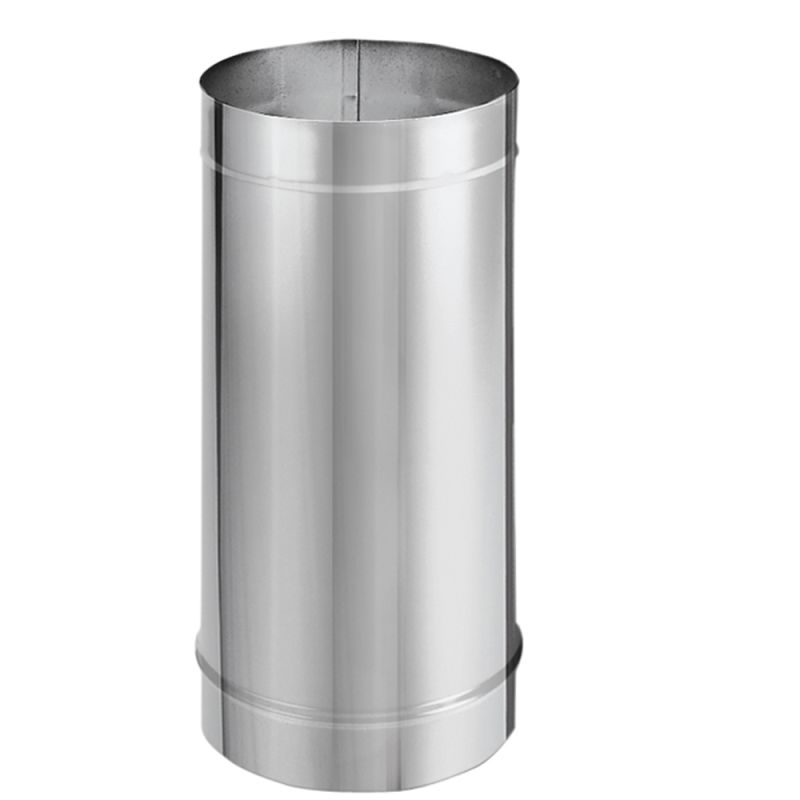 Duravent 6dbk 48ss Stainless Steel 6 Inner Diameter Durablack Stove Pipe Single Wall 48 Pipe Length Ventingpipe Com