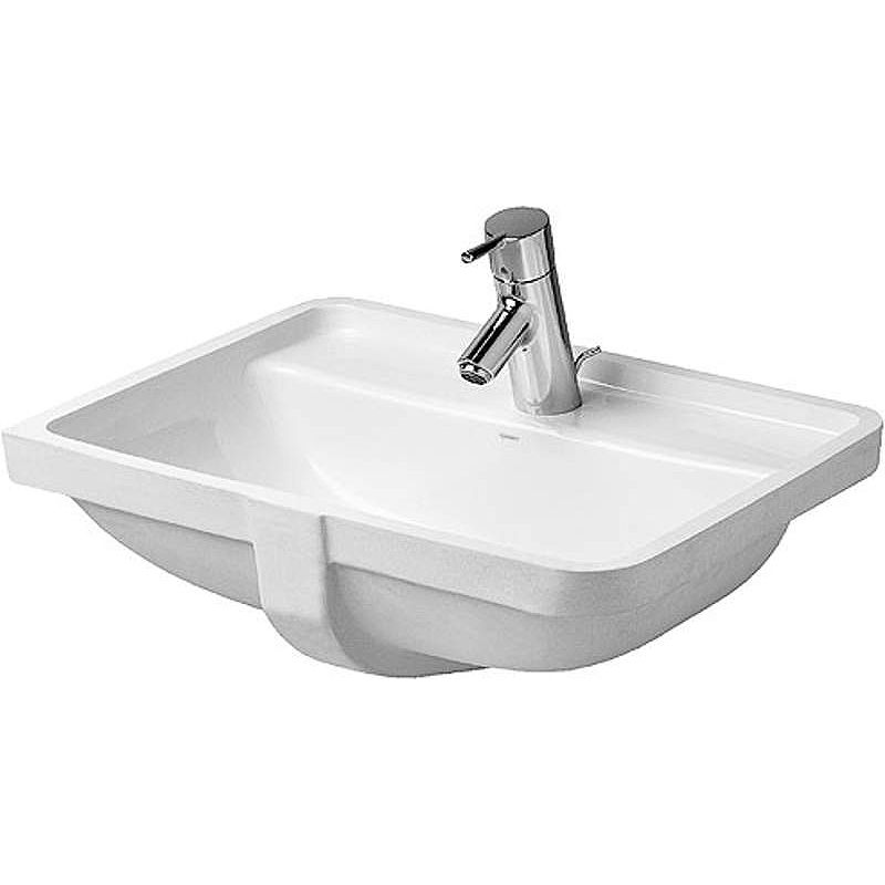 Duravit 03024900001 White Wondergliss Starck 3 Ceramic 20 11 16 Undermount Bathroom Sink With Single Faucet Hole And Overflow Faucetdirect