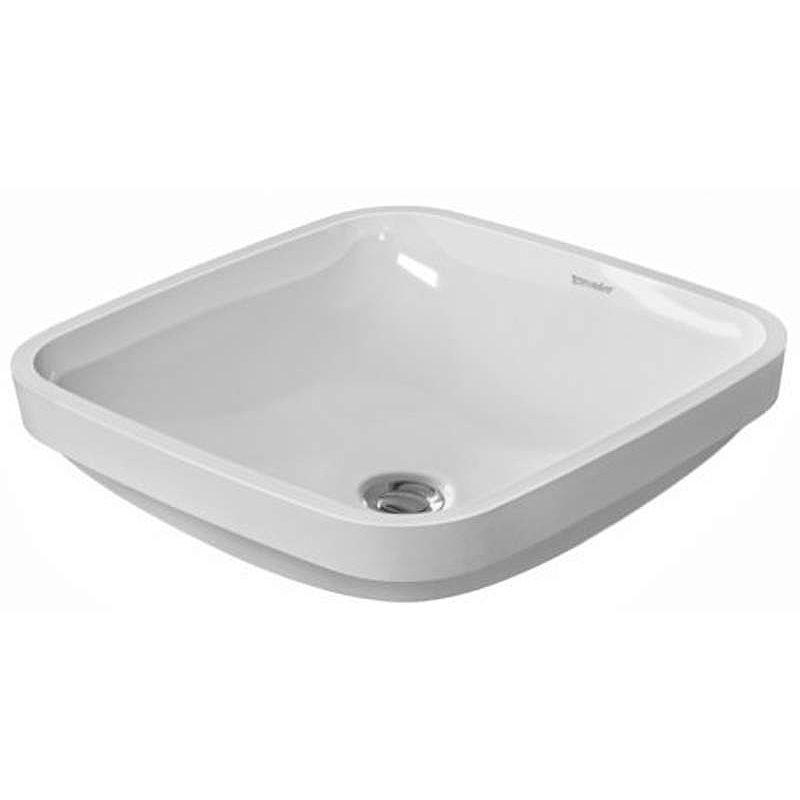 Duravit 0373370000 White Durastyle 15 3 4 Ceramic Undermount Bathroom Sink With Overflow Faucet