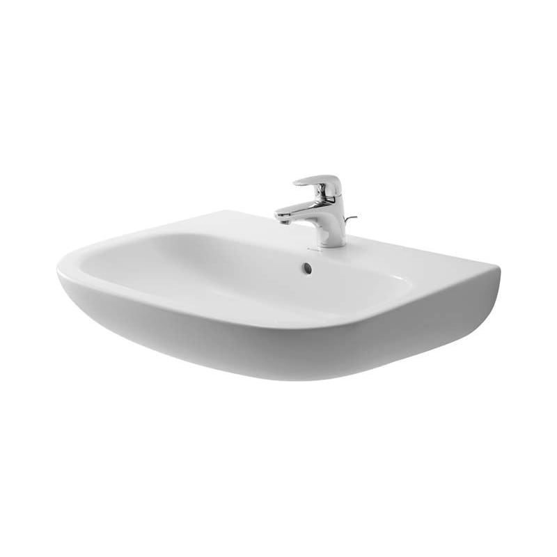 Duravit 23106500302 White Glazed Underside D Code 25 1 2 Specialty Ceramic Wall Mounted Bathroom Sink With Overflow And 3 Faucet Holes At 8 Centers Faucet Com