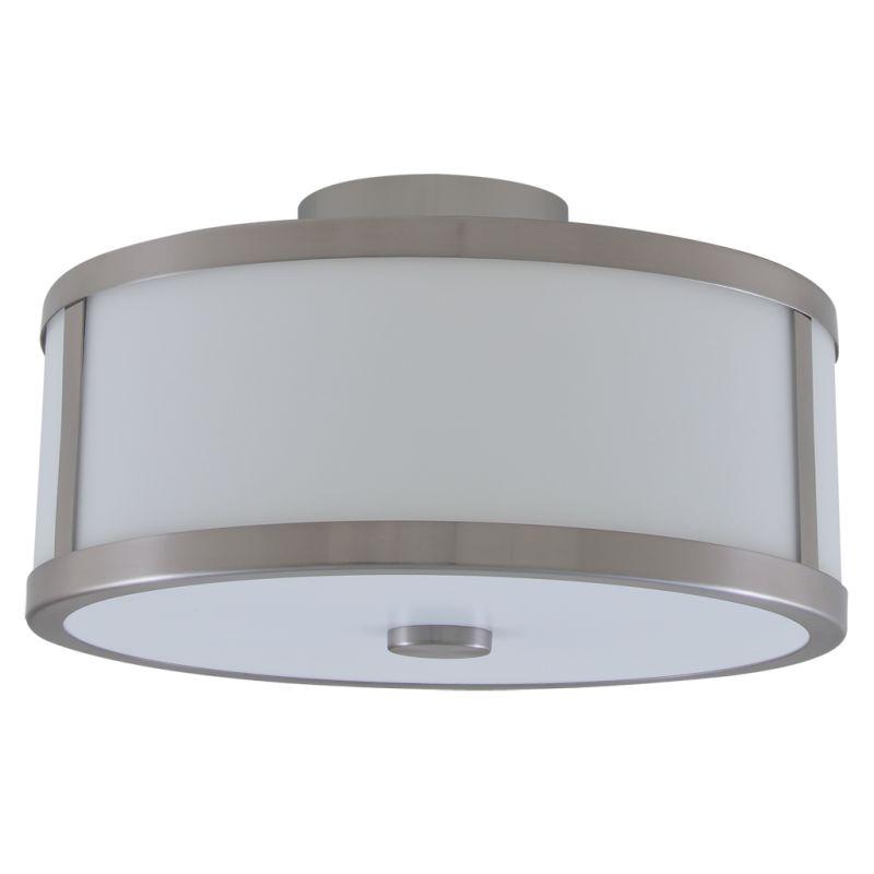 Dvi Lighting Dvp1112ch Op Chrome Opal Uptown 3 Light Semi Flush Ceiling Fixture Lightingdirect