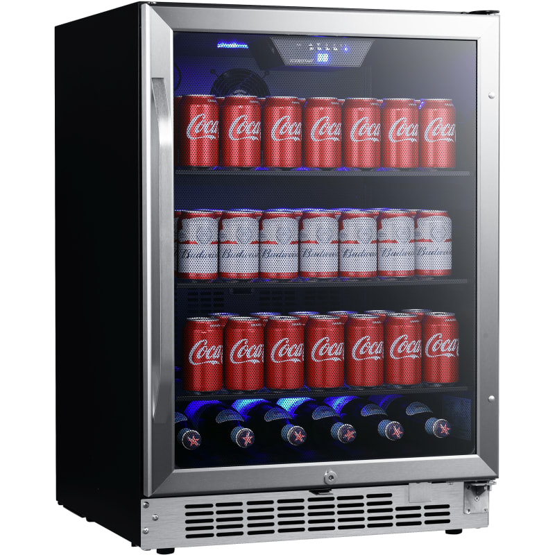 EdgeStar Stainless Steel Beverage Refrigerator