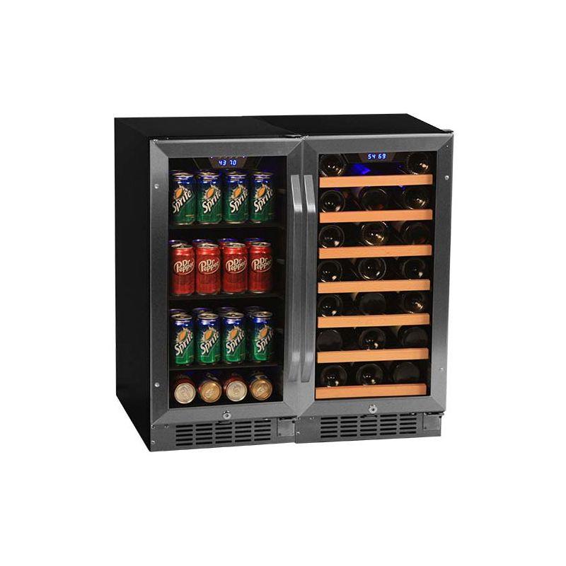 30 inch wide 30 bottle 80 can sidebyside wine and beverage center