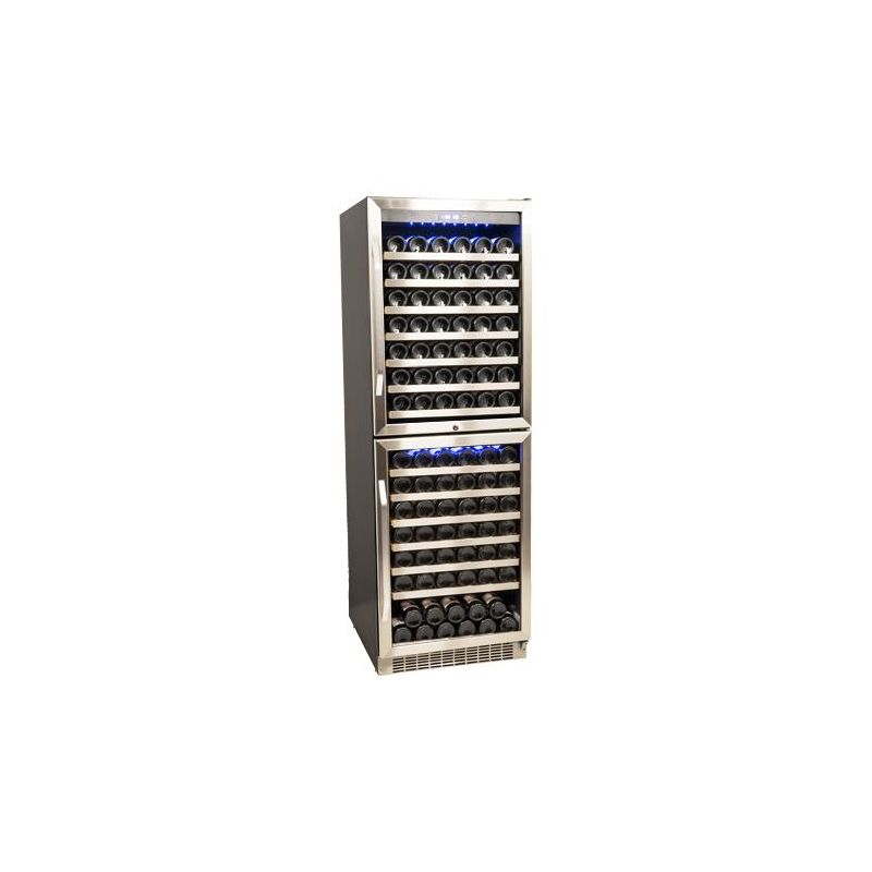 23 Inch Wide 155 Bottle Built-In Wine Cooler with Double Doors and Dual  Cooling