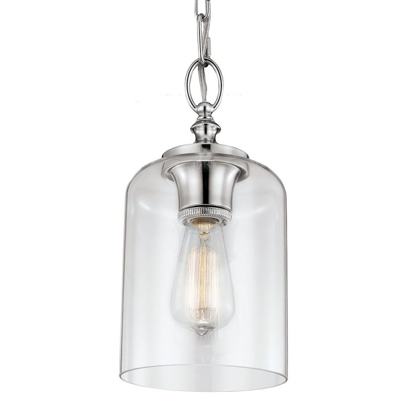 Feiss P1310pn Polished Nickel Hounslow 13 375 Height 1 Light Mini Pendant Lightingshowplace
