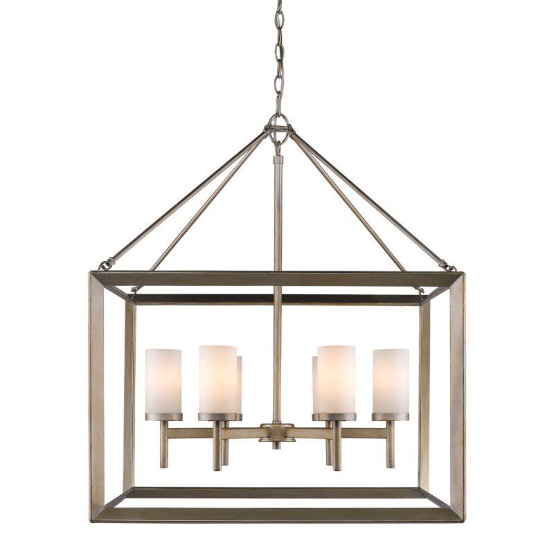 golden lighting chandelier. Golden Lighting 2073-6 GMT Gunmetal Bronze Smyth 6 Light 1 Tier 26.625\ Chandelier I