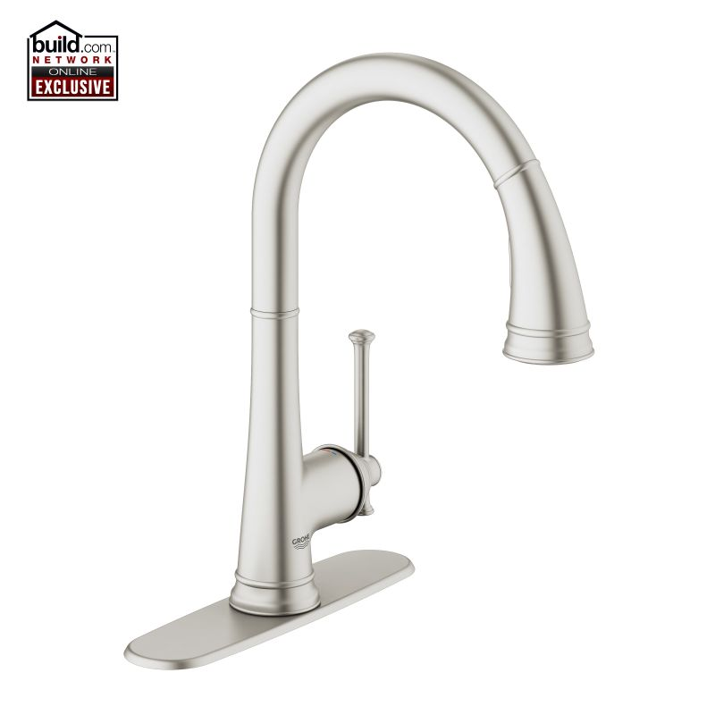 Grohe 30210000 Starlight Chrome Joliette Traditional Pull-down Spray ...