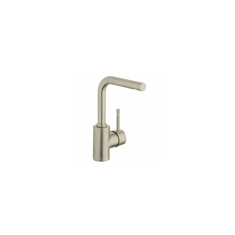 Grohe 32137en0 Brushed Nickel Essence Single Hole Bathroom Faucet