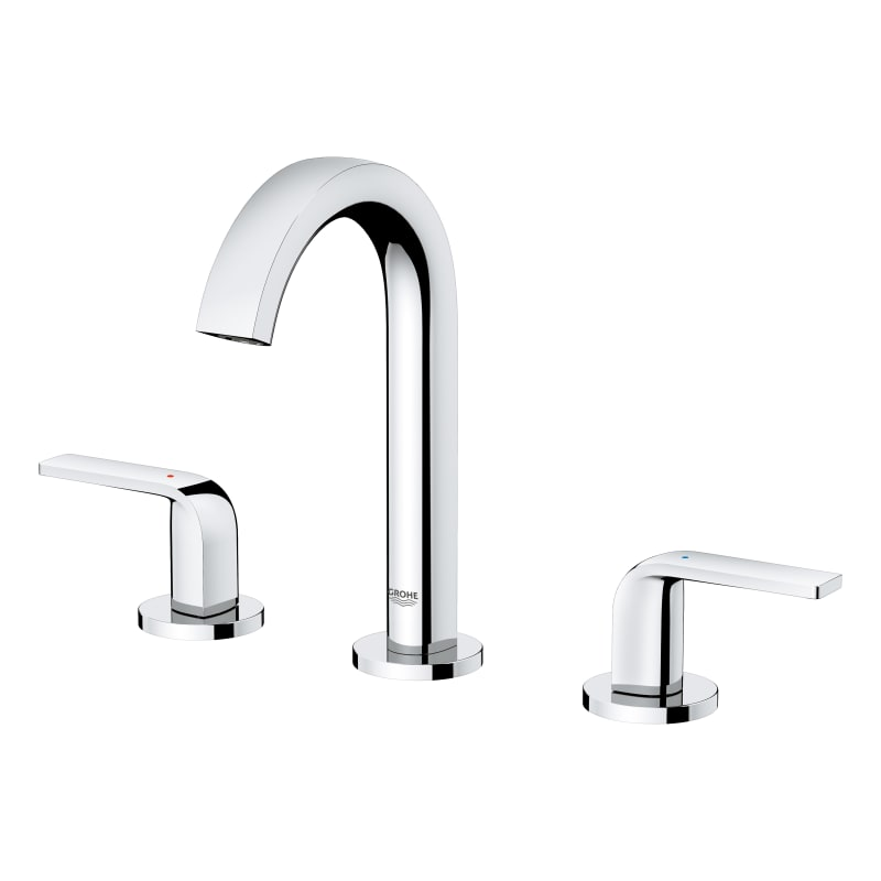 Grohe 20 597 Defined 1.2 GPM Widespread Bathroom Faucet Chrome