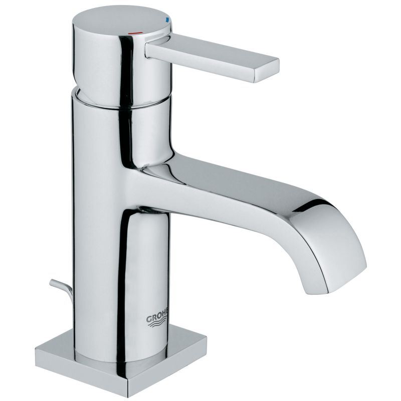 Grohe 2307700A Starlight Chrome Allure 1.2 GPM Single Hole Bathroom ...