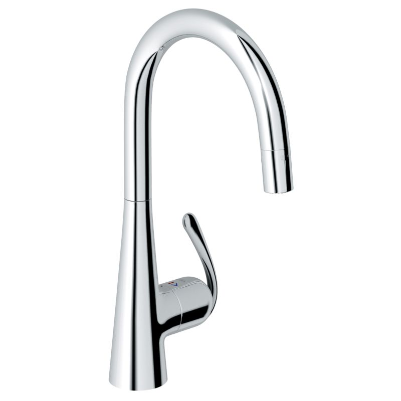 Grohe 32226000 Starlight Chrome Ladylux3 Pro Pull-Down High-Arc ...