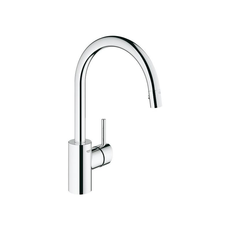 Grohe LEGACY 32665000 Chrome Concetto Pull-Down High-Arc Kitchen ...