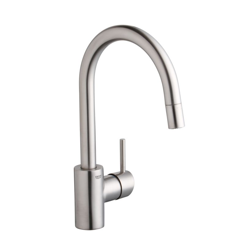 Grohe LEGACY 32665000 Chrome Concetto Pull Down High Arc Kitchen Faucet  With Single Function Locking Sprayer   FaucetDirect.com