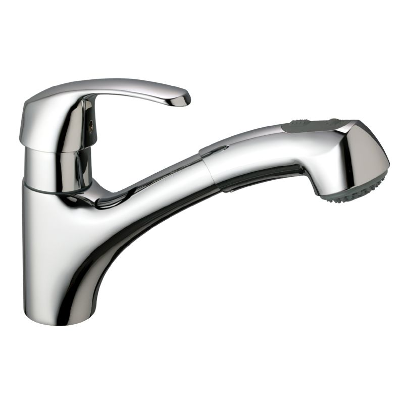Grohe 32999SD0 Stainless Steel Alira Pull Out Kitchen Faucet With  2 Function Locking Sprayer   FaucetDirect.com