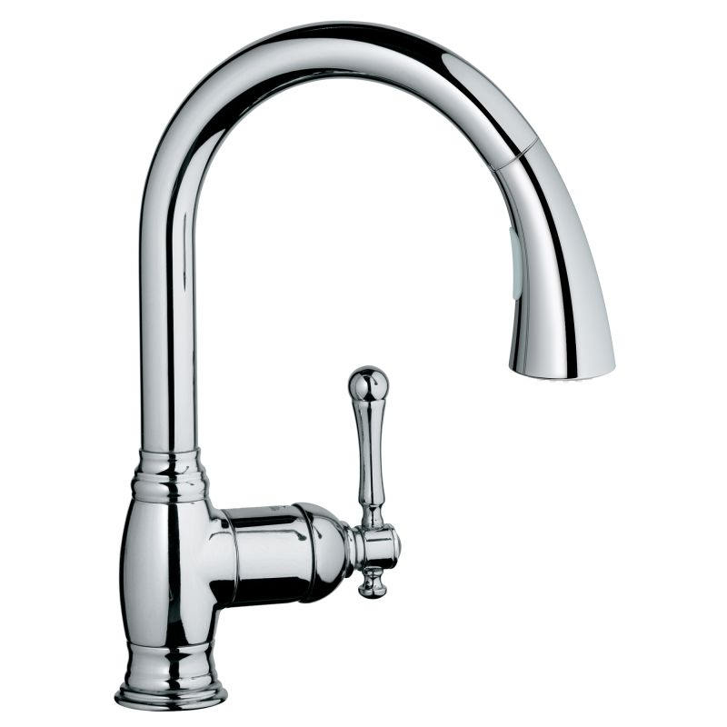 Grohe 33870002 Starlight Chrome Bridgeford Pull-Down Spray Kitchen ...