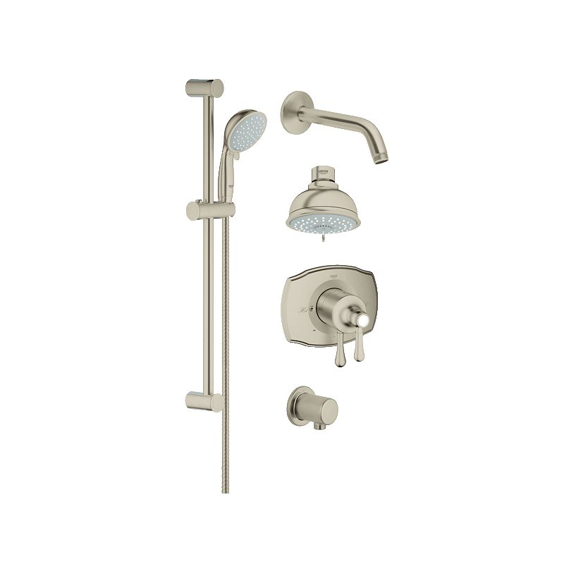 Grohe 35053EN0 Brushed Nickel GrohFlex Pressure Balanced Shower ...