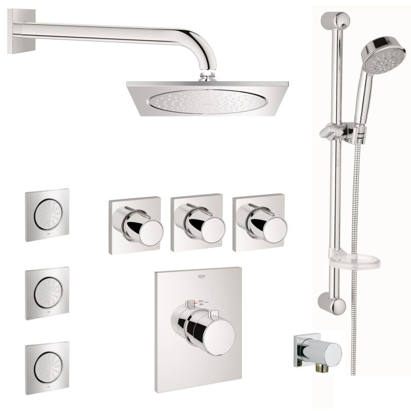 Grohe GSS-Grohtherm-FCTH-08-000 Starlight Chrome Grohtherm F ...