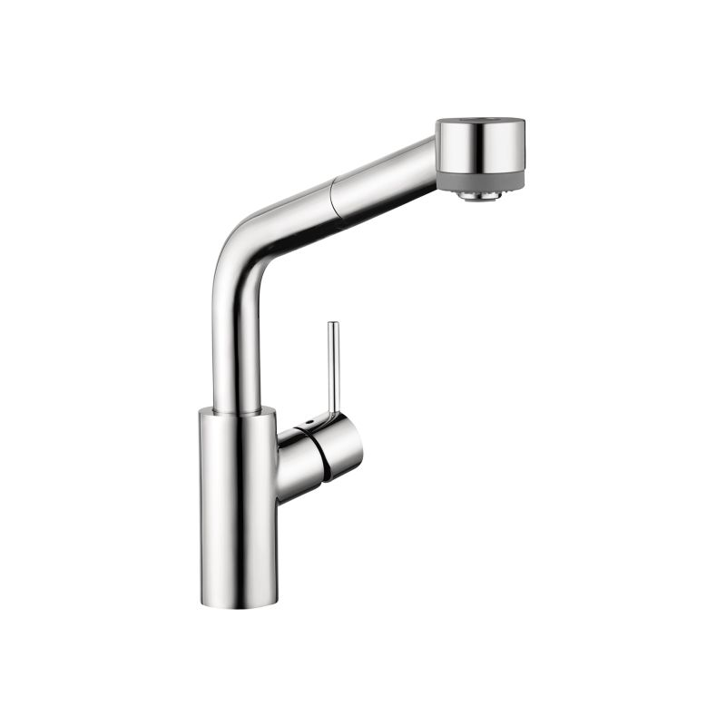 Hansgrohe 04247000 Chrome Talis S Pull-Down Kitchen Faucet with High ...