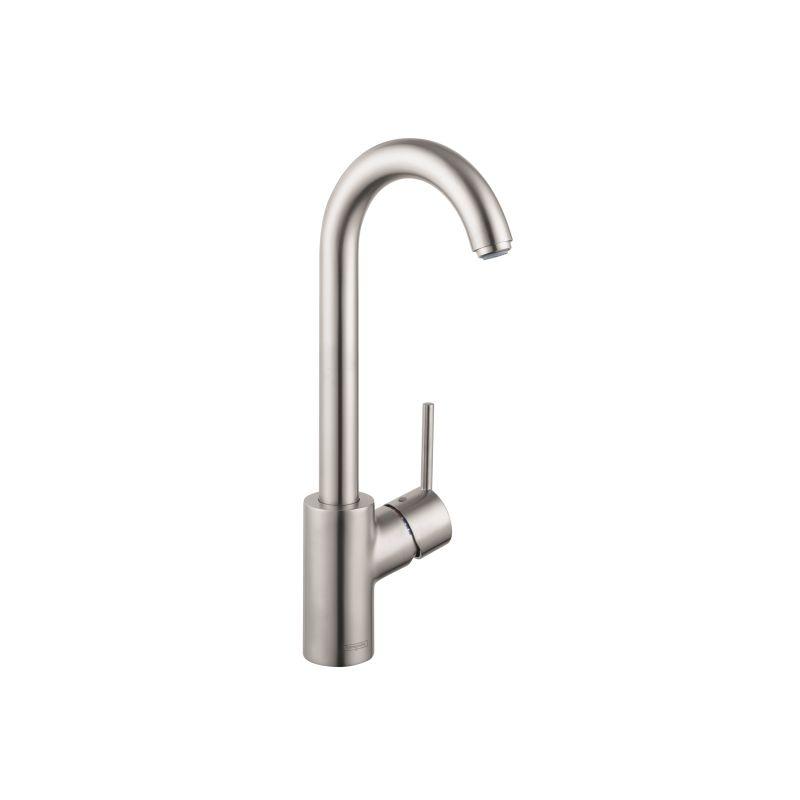 Hansgrohe 04287800 Steel Optik Talis S High-Arc Bar Faucet with ...