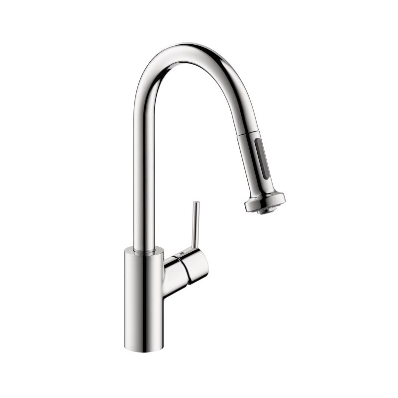 Hansgrohe 14877801 Steel Optik Talis S Pull-Down Kitchen Faucet with ...