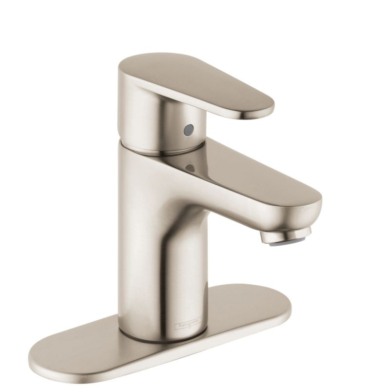 Hansgrohe 31612821 Brushed Nickel Talis E 1 2 Gpm Single Hole Bathroom Faucet With Ecoright Quick Clean And Comfortzone Technologies Drain Embly