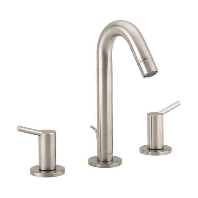 Hansgrohe 32310821 Brushed Nickel Talis S Widespread Bathroom Faucet ...