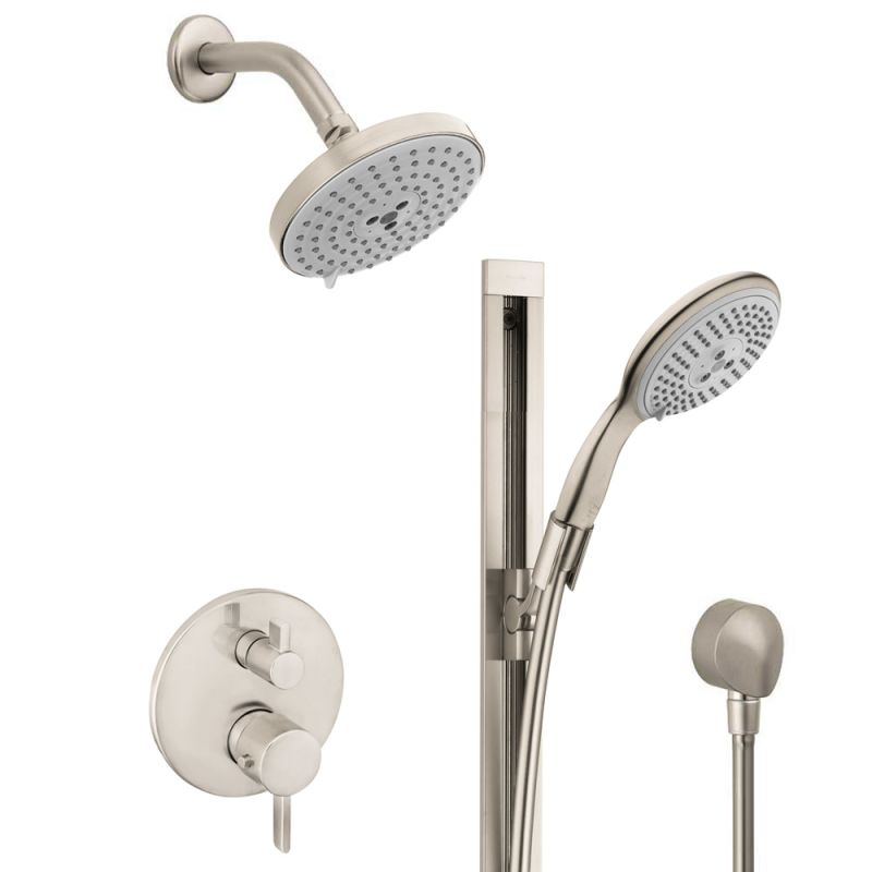 Hansgrohe HSS-S-T02-820 Brushed Nickel S Thermostatic Shower System ...
