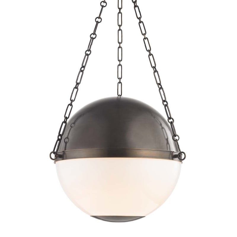 Hudson Valley Lighting Mds751 Db Distressed Bronze Sphere No 2 3 Light 21 Wide Pendant Lightingdirect Com