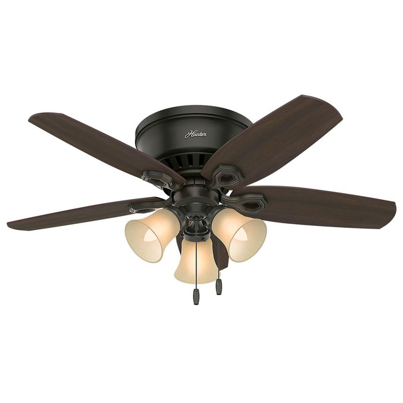 bronze ceiling fan pull chain outdoor light kit hunter 54 with new indoor reversible blades included