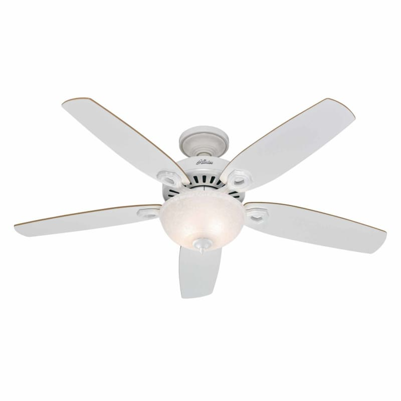 Hunter 53090 brushed nickel 52 indoor ceiling fan 5 reversible hunter 53090 brushed nickel 52 indoor ceiling fan 5 reversible blades and light kit included lightingdirect mozeypictures Image collections