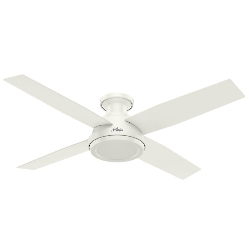 Hunter 59248 fresh white 52 4 blade indoor ceiling fan with remote hunter 59248 fresh white 52 4 blade indoor ceiling fan with remote control included lightingdirect aloadofball Images