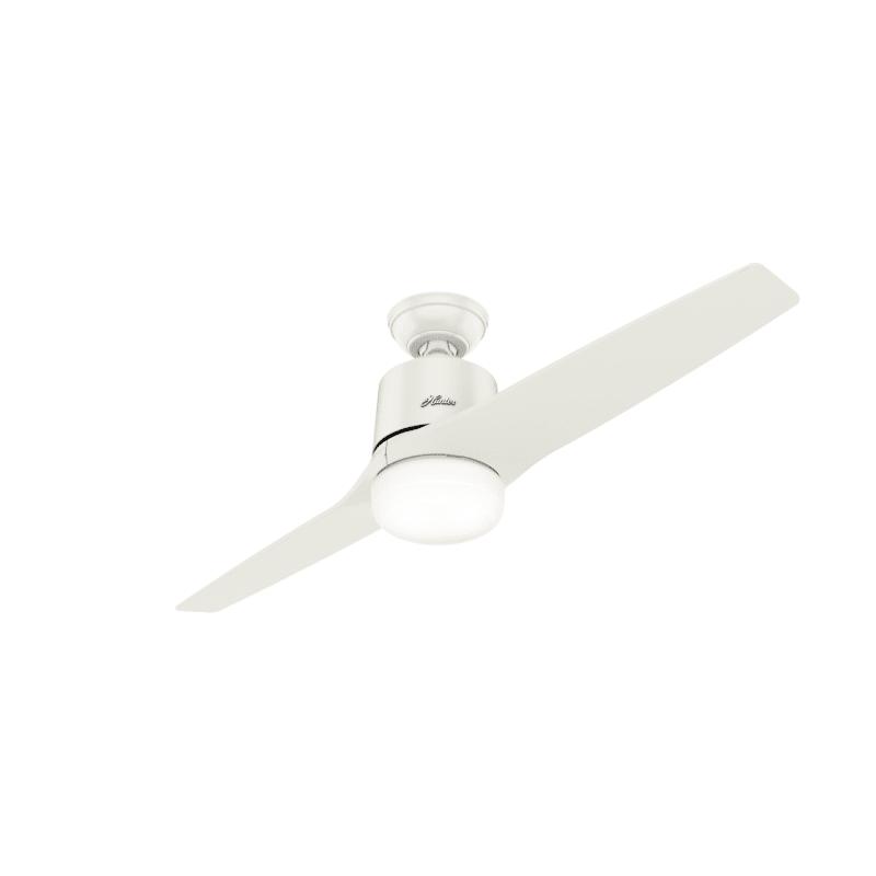 Hunter 59555 Fresh White Leiva 54 2 Blade Led Ceiling Fan With Remote Control Lightingdirect Com