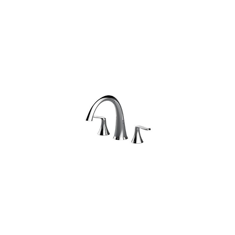 Jacuzzi MX22827 Chrome Piccolo Deck Mounted Roman Tub Filler Faucet ...