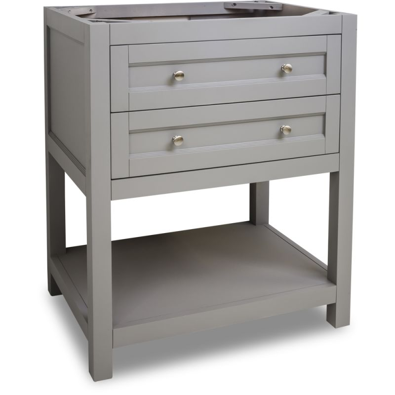 Jeffrey Alexander VAN103 30 Grey Astoria Modern Collection 30 Inch Wide  Bathroom Vanity Cabinet Only   Faucet.com